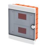 Ηλεκτρολογικός Πίνακας 2 Σειρών 16Θ Χωνευτός Πλαστικός με Πόρτα