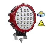 Vehicle Led Flood Light 63W 12V-24V DC Round Red