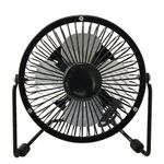 Mini Table Fan 10cm 2.5W with USB connection Black