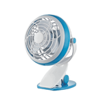 Mini Table Fan 10cm 1.8W with Batteries and USB connection Blue