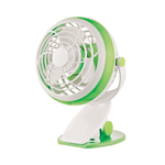 Mini Table Fan 10cm 1.8W with Batteries and USB Connection Green