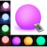Rechargeable Decorative Sphere Led D30cm IP65 RGB + Remote Control