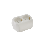 Double German Screw Type Socket White