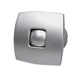 Indoor Bathroom Fan 15W Silent with Valve Silver