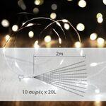 Διακοσμητικό Σύρμα με 200LED σε Σχήμα Χταπόδι Χάλκινο 2m