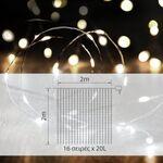 Διακοσμητικό Σύρμα με 3200LED σε Σχήμα Κουρτίνα Θερμό Λευκό 2x2m
