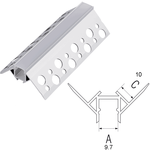 Aluminum Profile for External Corner 2m BC