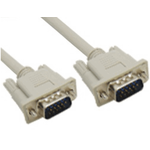 VGA Monitor PC Cable HDB15M/15M Male to Male Beige 2m