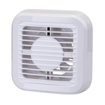 Indoor Bathroom Fan 10cm 15W with Valve White