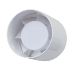 Tubular Indoor Bathroom Fan 10cm 15W White