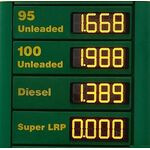 Petrol Station Led Sign Price Red