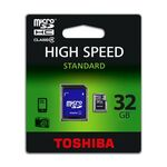 Micro-SD Memory Card 32GB TOSHIBA with Adapter