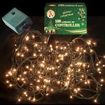 Christmas Led Lights White 220L Controller