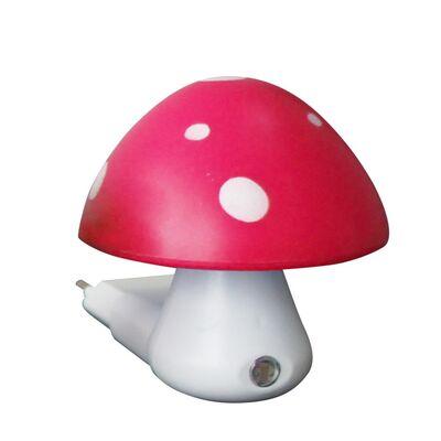 LED Λαμπάκι Νυκτός Ροζ Μανιταράκι Με Αισθητήρα Μέρας-Νύχτας