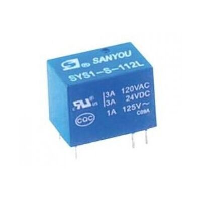 RELAY SUBMINIATURE 1P 12V DC 1A SYS1 - S - 112L SAN