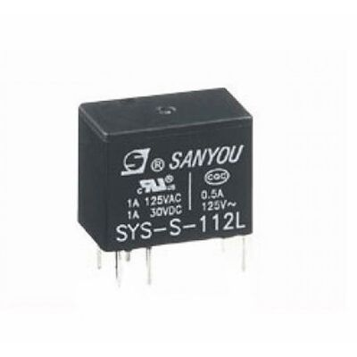 RELAY SUBMINIATURE 1P 12V DC 1A SYS - S - 112L SAN