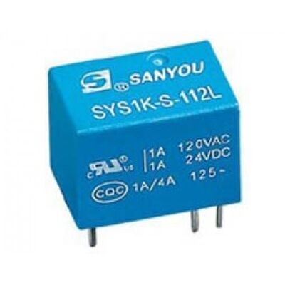 RELAY SUBMINIATURE 1P 24V DC 1A SYS1K - S - 124L SAN