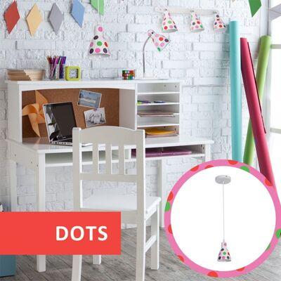 Φωτιστικό Κρεμαστό Μονόφωτο Μεταλλικό Λευκό Χρωματιστό 955DOTS1P