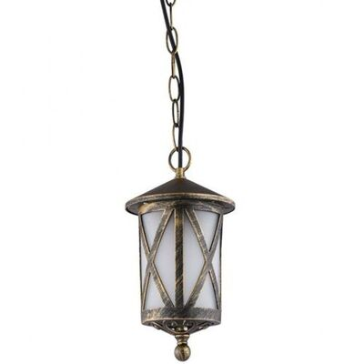 Hanging Luminaire Lantern Aluminum Antique Brass Outdoor 96103P/AB