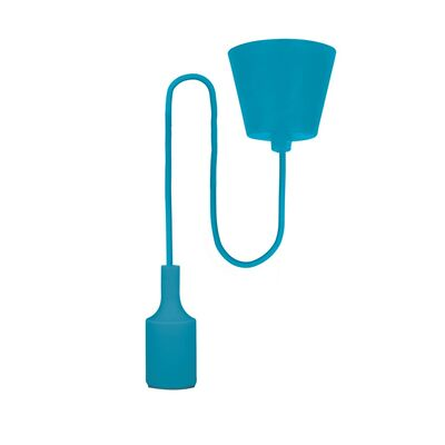 E27 Pendant Lamp Holder with Cable Blue