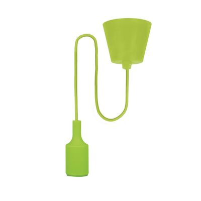 E27 Pendant Lamp Holder with Cable Green