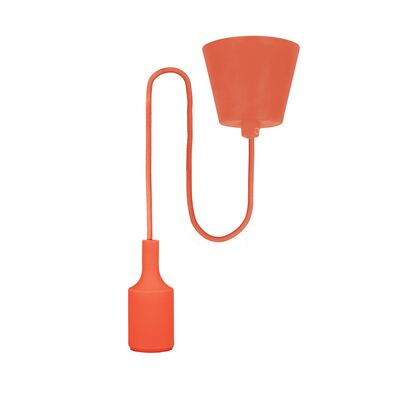 E27 Pendant Lamp Holder with Cable Red