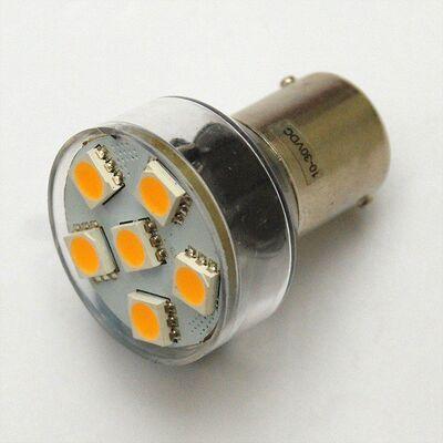 Led Bulb BA15s Cool White 6 SMD5050 10-30V DC