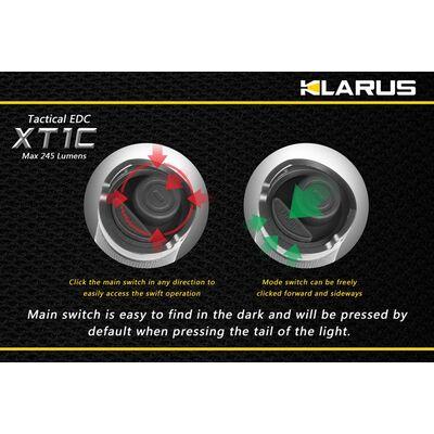Φακός Led Klarus XT1C 245 Lumens