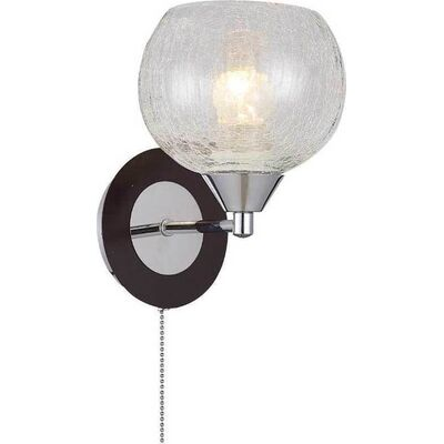 Lighting Pendant 1 Bulb Wenge + Chrome RENY1W