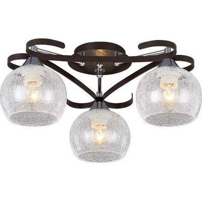 Lighting Pendant 3 Bulbs Wenge + Chrome RENY3