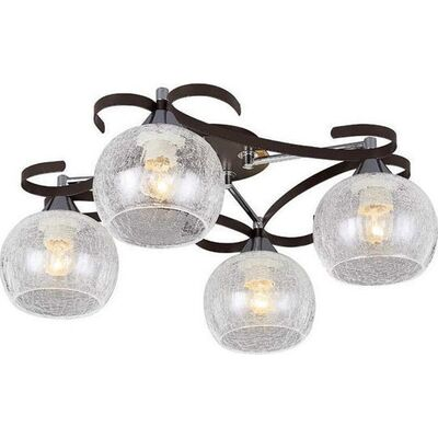 Lighting Pendant 4 Bulbs Wenge + Chrome RENY4