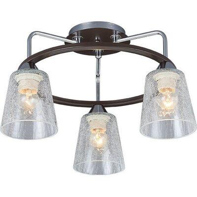 Lighting Pendant 3 Bulbs Wenge + Chrome ZORY3