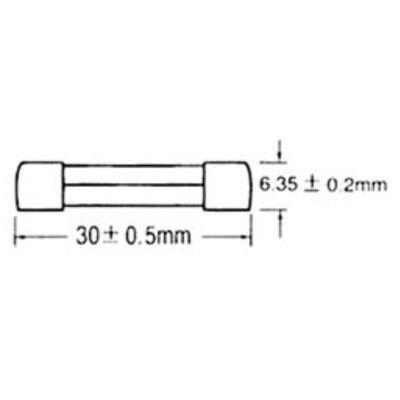 Ασφάλεια Γυάλινη 6x30 Ταχείας S1019 3.15A SXG