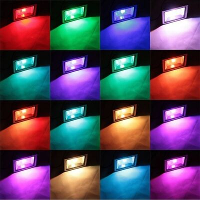 LED Flood Light RGB 20W with remote control