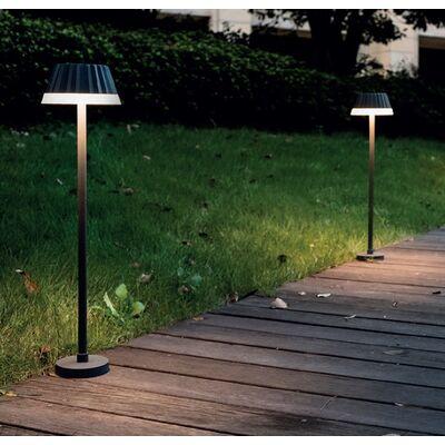Garden Lamp Aluminum Led 10W 3000K 130° Dark Grey Outdoor 62cm IP65