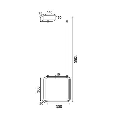 Lighting Fixture LED Black Matt 14W 3000K 13800-050