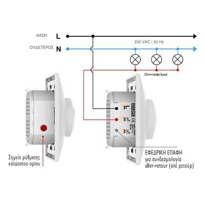 Dimmer LED 230V Χωνευτό 1000W
