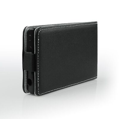 Flip Cover Leather Case Alcatel C9 7047D Black