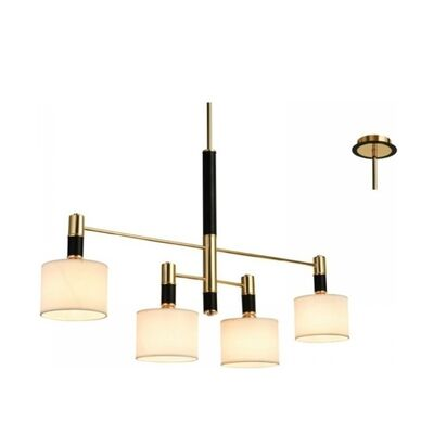 Pendant Lamp Modern Bright Black With Lamp 4xE14