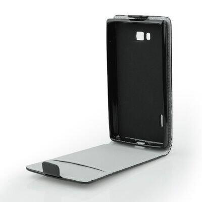 """Flip Cover Leather Case Alcatel One Touch Pixi 3 5"""" Black"""