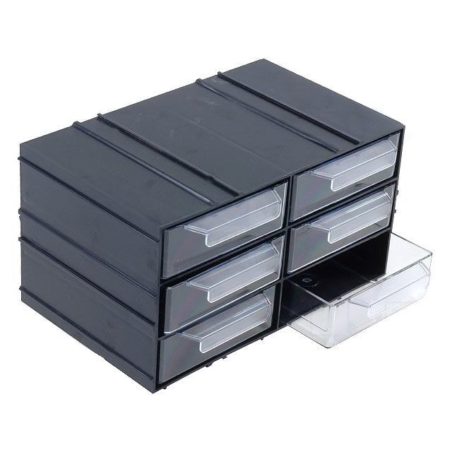 6 Drawer Plastic Storage Cabinet, Electronic Component Storage Cabinet